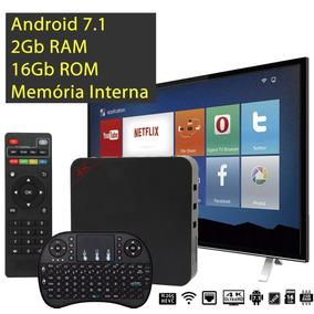 Kit Smart Tv Box + Mini Teclado Android 7.1