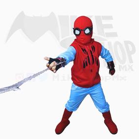 Traje De Niño Spiderman Casero Homecoming Dizfraz Halloween