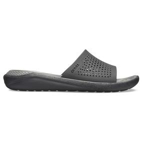 Crocs Literide Slide Black/grey - Crocs Uruguay
