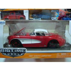 Miniatura Chevy Corvette 1957 1/24 Jada Na Caixa #e13