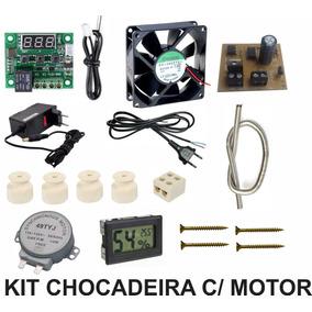 Kit Chocadeira C/ Motor Automático C/ Higrometro