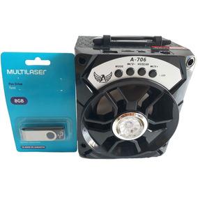Caixa De Som Bluetooth P2 Notebook Pc Tv Dvd Celular Mp3 Mp4