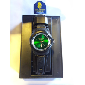 Relógio Atlantis 5276w Preto Fundo Verde Feminino