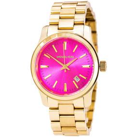 7a04028444ce0 Relógio Michael Kors Mk5801 Rosa Lançamento Completo Mk Pink ...