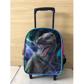 Mochila Infantil Pequena Escolar Rodinhas Dinossauro-