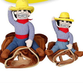 Disfraz Para Perro Vaquero Sombrero Montado Jinete Mascota 20bfb2409dc