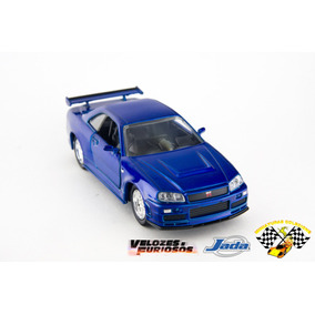 Miniatura Velozes& Furiosos Nissan Skyline Gtr Azu 2002 1:32