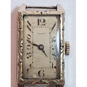 8d478c43d70 Relógio Pulso Vintage Com Banho De Ouro Suiço Thais 30883