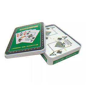Baralho-carta Truco Poker-plástico-duplo- Lata-original