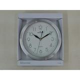 Reloj Pared Skagein Maquina Silencioso Acero Satinado 26cm