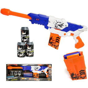 Lançador Tipo Nerf Master Super Shot C/ 3 Alvos E 10 Dardos