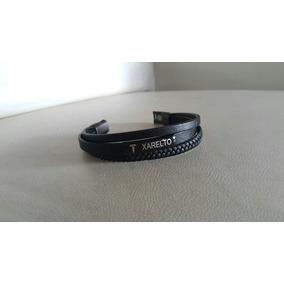 Bracelete/ Pulseira De Couro Alerta Médico: Uso De Xarelto