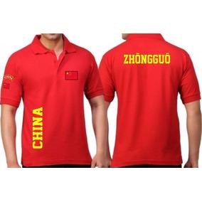 bd903f5380362 Camiseta Tipo Polo China Zhongguo Países Coleção