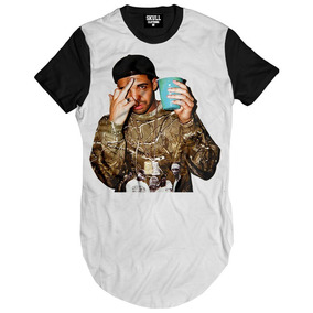 Camisa Longline Masculina Estilo Hip-hop Rap Drake Swag 2017 · R  49 90 e854fcfe3e6