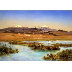 Lienzo Tela Canva Arte José María Velasco Popocatépetl 90x63