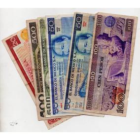 Billetes Antiguos México De Los 1970 L S8