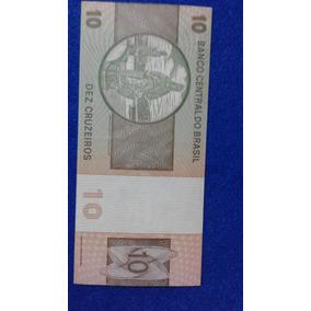 Cédula De 10 Cruzeiros Fe - D.pedro Ii