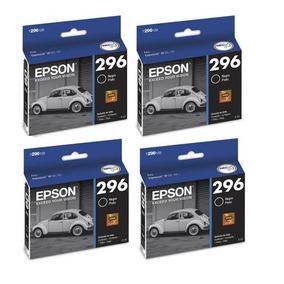 Kit 4 Cartuchos Epson Preto 296 Xp 231 Xp 431 Xp231 Xp431