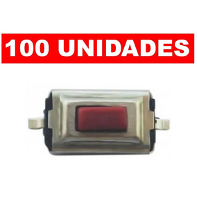 Kit 100 Botao Interrutor Smd Tactil P/ Chaves E Controles