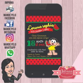 Arte Digital Para Convite Magali Infantil Aniversario