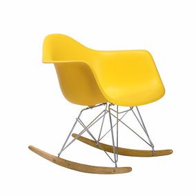 Silla Eames Mecedora Sillas Modernas C/ Brazo Amarilla Klen