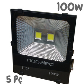 Refletor 100w Led Cob Kit 5pç Alta Qualidade 6500k Nogaled