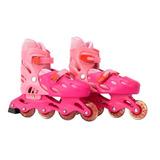 Patins Roller 4 Rodas E Freio Rosa - Mc8411-r