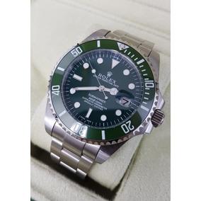 Reloj Rolex Submariner Hulk Acero Y Esfera Verde Automatico