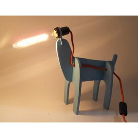 Luminária De Mesa Dog Azul