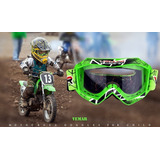 Óculos Infantil Kids Preto Cristal Motocross Trilha Vemar