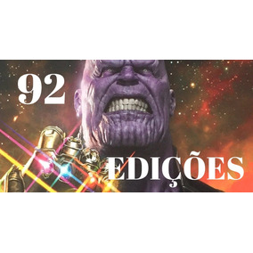 Saga De Thanos 92 Edições Guerra Infinita Marvel Vingadores