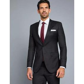 Terno Slim 2 Botões Paletó + Calça + Camisa+ Gravata