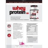 Kit 04x Whey Protein Midway 900g Morango Team Nogueira Usa