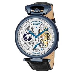 Reloj Hombre Stuhrling Automatico Skeleton Emperor 33x52