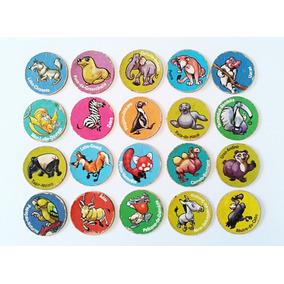 Lote Com 32 Tazos Ping Pong Animais Em Extinção Zaps