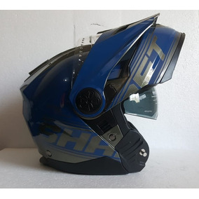 Casco Shaft Inner Cross City Abatible Lentes Humo Rider One
