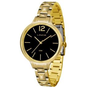 60768a300ba Relogio Feminino Fundo Preto Lince - Relógios De Pulso no Mercado ...