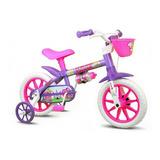 Bicicleta Infantil Nathor Aro 12 Menina Violet De 3 A 5 Anos