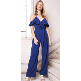 c10977c8887 Jumpsuit Azul Rey De Tirantes Moda Primaveral Envío Gratis