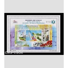 Selo 50 Anos Reunificaçao Israel 2 Un Original Com Nfe