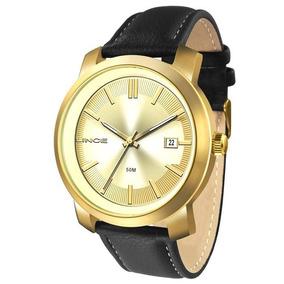 Relógio Lince Masculino Aço Pulseira De Couro Mrc4464s C1px