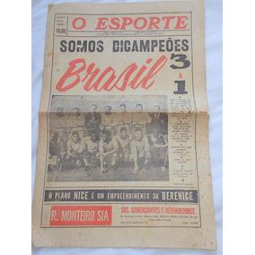 Jornal O Esporte 18 Junho 1962 Bicampeonato Copa Do Chile