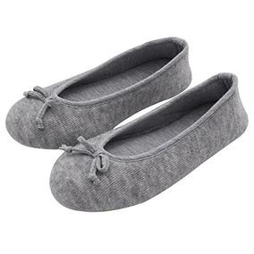 Hometop Zapatillaszapatos De Casa Tipo Bailarina De Alta Cal