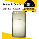 Tampa De Bateria Original Lenovo, Vibe K5, A6020 Dourado