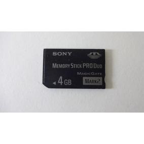 Cartão De Memória Stick Pro Duo Sony 4gb Usado. Envio C.r