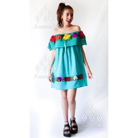 Lote 12 Vestidos Artesanal Estilo Campesina Mod. Zinacantán