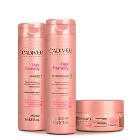 Cadiveu Hair Remedy Kit Shampoo + Condicionador + Máscara