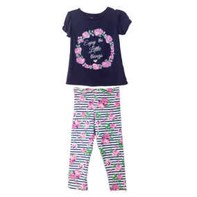 Conjunto Leggings Con Playera Estampada (50903)