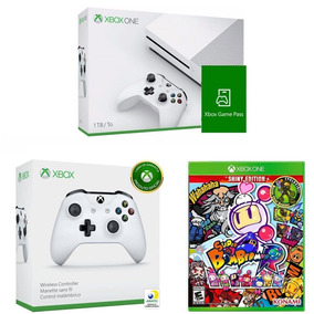Kit Xbox One S 1tb+ Game Pass + Super Bomberman R + Controle