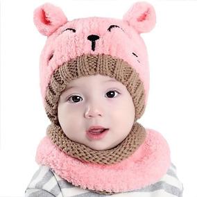 Gorro Bufanda Bebé Niños Niñas Frio Cuello Invierno Rosado 9c4a1f08dd1